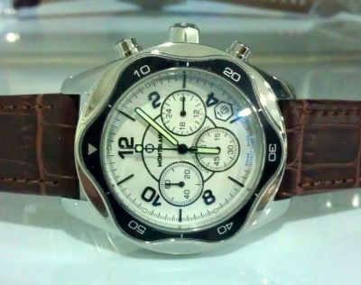 MONTBLANC Chronograph Watch White Face